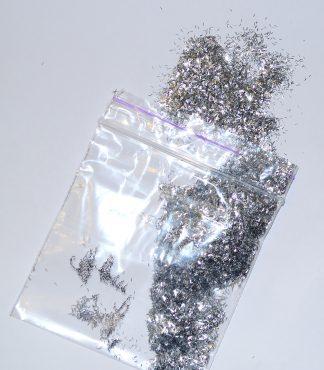 Серебристый продолговатый блеск для жидких обоев
