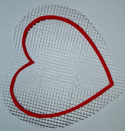 Сердце - декор для жидких обоев