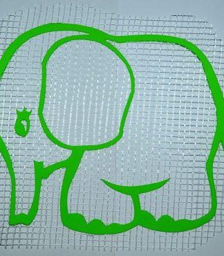 Слонёнок - декор для жидких обоев