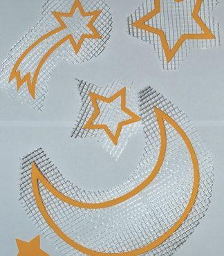 Набор луна, звезды, комета - декор для жидких обоев