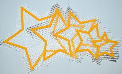 Набор звёздочек формата а5 - декор для жидких обоев Экобарвы