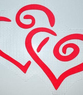 Декор для жидких обоев Экобарвы - два сердца А3