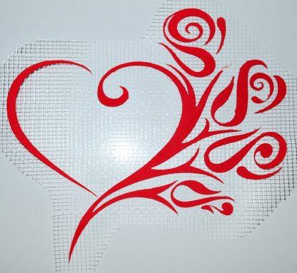 Декор для жидких обоев Экобарвы - сердце-цветы