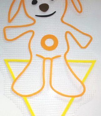 Собачка Тини Лав - декор для жидких обоев