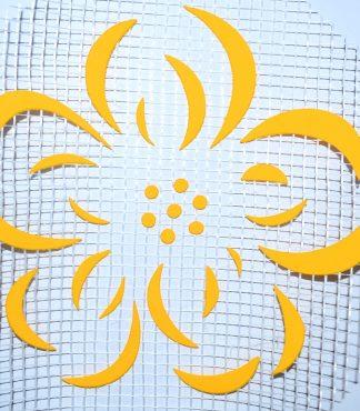 Цветок 121 - декор для жидких обоев
