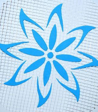 Цветок 122 - декор для жидких обоев