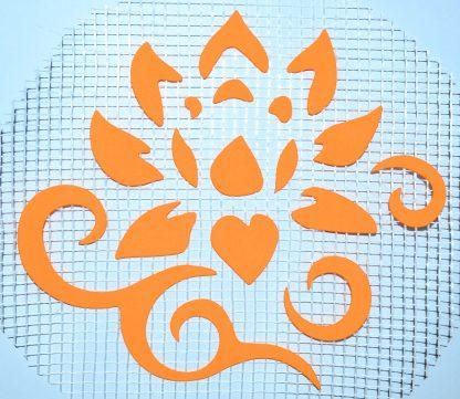 Цветок 123 - декор для жидких обоев